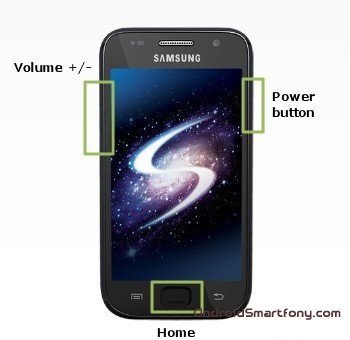 Samsung I9001 Galaxy S Plus - делаем hard reset