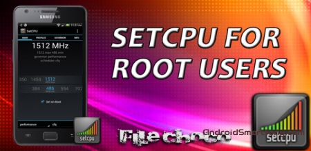 SetCPU for Root Users - приложение для разгона процессора на android