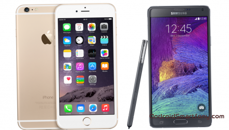 10 ������� � ������ Samsung Galaxy Note 4 � ��������� � iPhone 6 Plus