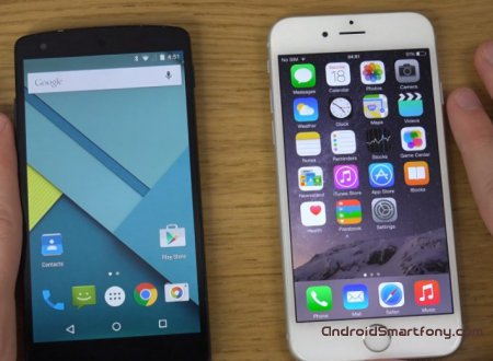 ��������� iOS 8 vs Android 5.0 Lollipop - ��� �����?