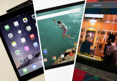 Apple iPad Air 2 vs Google Nexus 9 vs Samsung Galaxy Tab S - сравнение характеристик