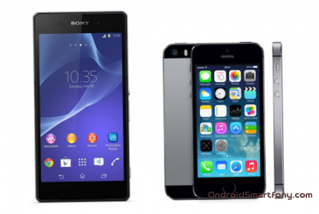 Sony Xperia Z2 vs iPhone 5s - ��������� ��������� ��������� ����