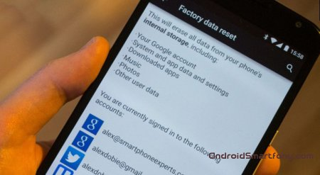 Hard reset Android Lollipop - ����� �������� � ������������ �����