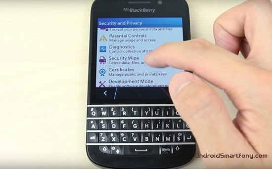 Hard Reset BLACKBERRY Q10 - сброс настроек до заводских