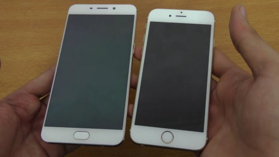 Oppo F1 Plus vs iPhone 6S фото 2