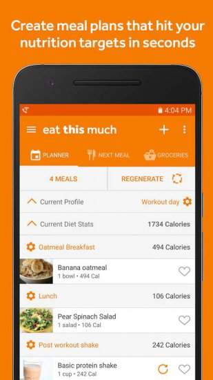 Eat This Much – Meal Planner для android