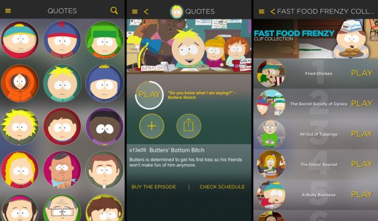 The Official South Park App для iOS