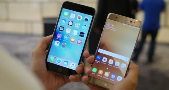 Сравнение: Samsung Galaxy Note 7 vs iPhone 6s Plus