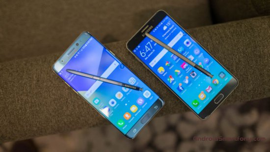 Samsung Galaxy Note 7 vs Note 5 фото 3