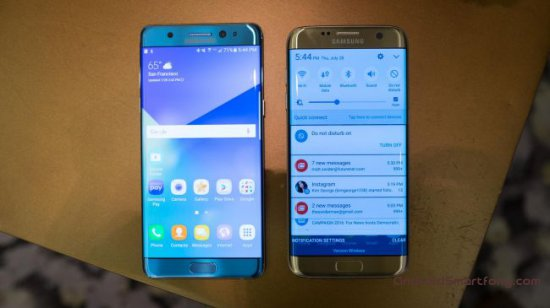 Samsung Galaxy Note 7 vs S7 Edge фото 2