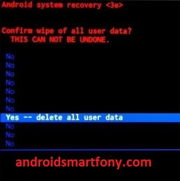 delete all user data Fly FS517