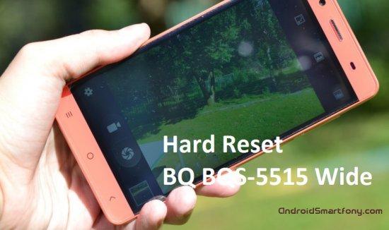 Hard Reset BQ BQS-5515 Wide - сброс настроек, пароля, графического ключа