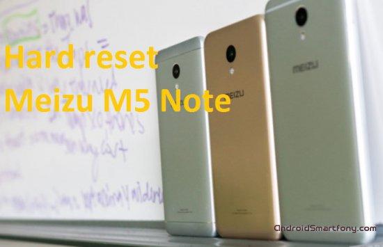 Hard Reset Meizu M5 Note - сброс настроек, пароля, графического ключа