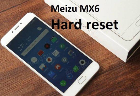 Hard Reset Meizu MX6 - сброс настроек, пароля, графического ключа
