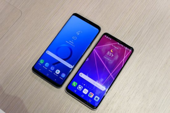 Экраны Galaxy S9 Plus vs LG V30