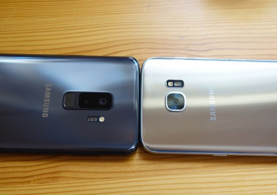 сравнение Samsung Galaxy S9 Plus vs Galaxy S7 Edge
