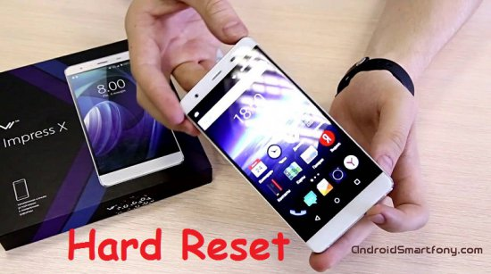 Hard reset Vertex Impress X - сброс настроек, пароля, ключа
