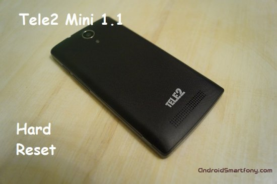 Hard reset Tele2 Mini 1.1 - сброс настроек, пароля, ключа