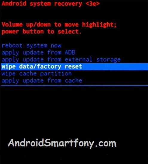 ZTE Blade V8 Lite wipe data factory reset