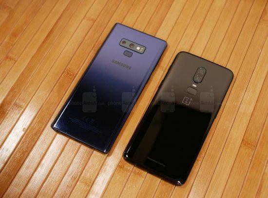 Дизайн Samsung Galaxy Note 9 vs OnePlus 6