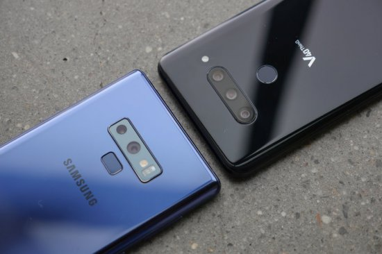 камеры LG V40 ThinQ vs Samsung Galaxy Note 9