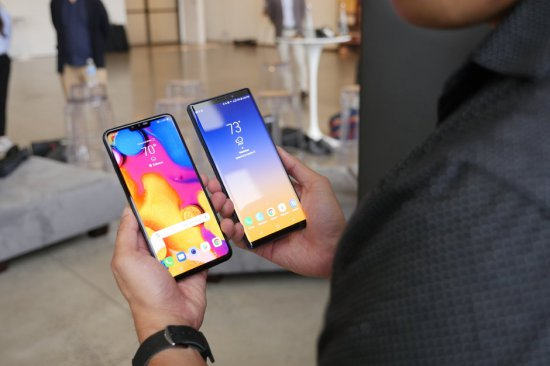 сравнение LG V40 ThinQ vs Samsung Galaxy Note 9