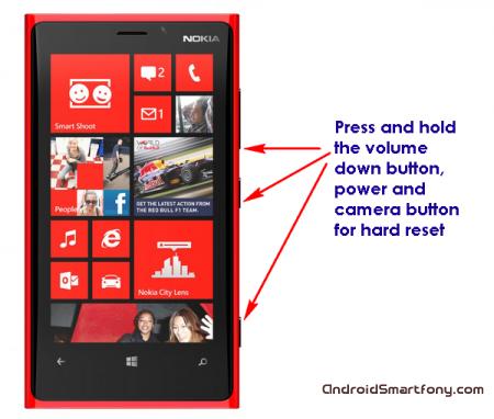 Как сделать Hard reset на Nokia Lumia
