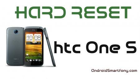 HTC One S hard reset