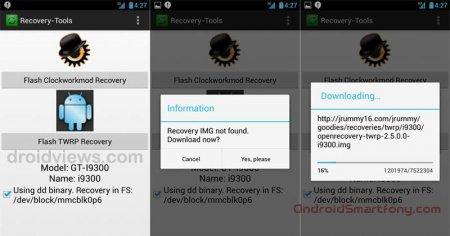 Как с помощью приложения Recovery Tools установить ClockworkMod или TWRP рекавери на Android устройство в один клик