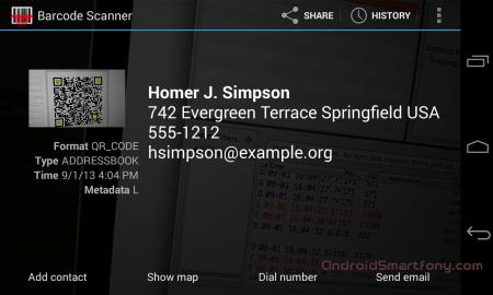 Barcode Scanner - приложение сканер баркодов для android