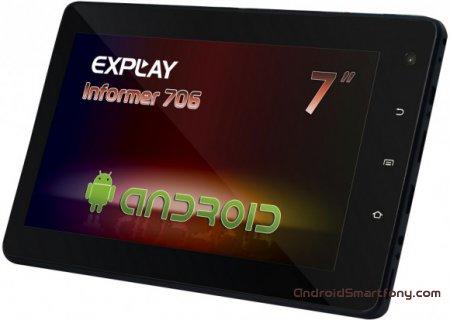 Explay Informer 706 3G - hard reset и сброс графического ключа