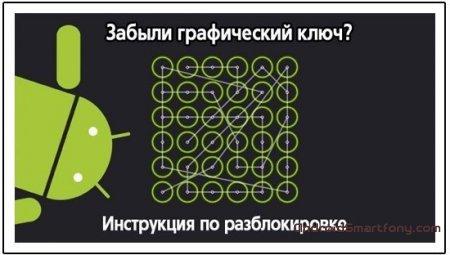 Способы решения блокировки графического пароля на android устройствах