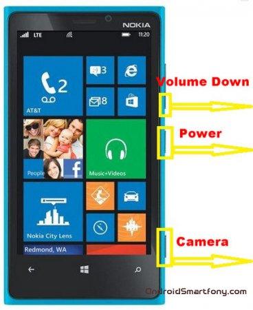 Как сделать hard reset Nokia Lumia 920