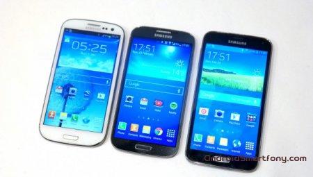 Сравнение Samsung Galaxy S5 vs Galaxy S4 vs Galaxy S3