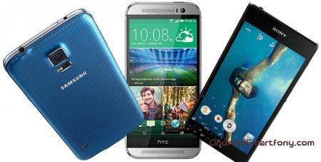 Сравнение LG G3 vs HTC One M8 vs Samsung Galaxy S5 vs Sony Xperia Z2 vs iPhone 5S