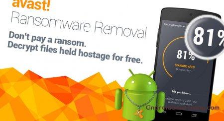 Avast Ransomware Removal – актуальное приложение для удаления программ-вымогателей с Android-девайсов