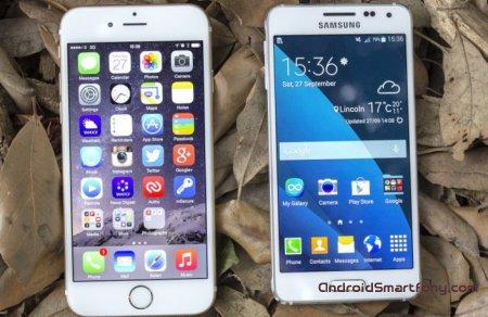 Сравнительный обзор Samsung Galaxy Alpha vs iPhone 6