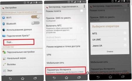 Sony Xperia - как настроить интернет?