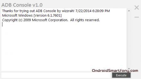 ADB Console - выполнение команд Fastboot и ADB без Android SDK
