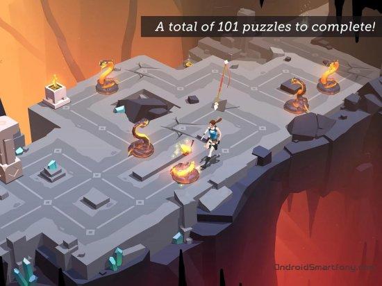 скачать головоломку на андроид и айфон Lara Croft GO