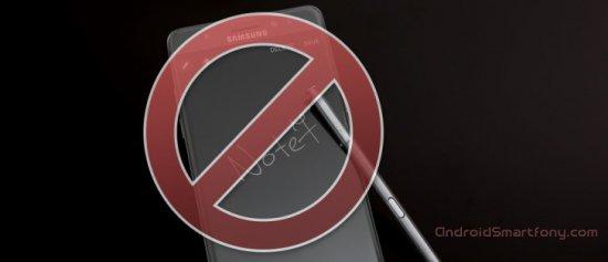 Note 7 могут запретить на авиарейсах в США