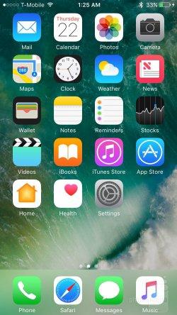 интерфейс iPhone 7 фото 1