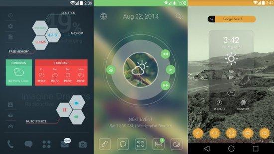 10 вдохновляющих домашних экранов на Android. Часть 6