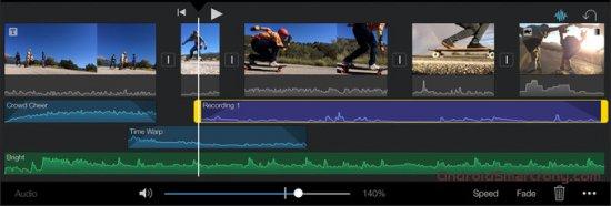 Приложения в стиле iMovie для iPhone и Android