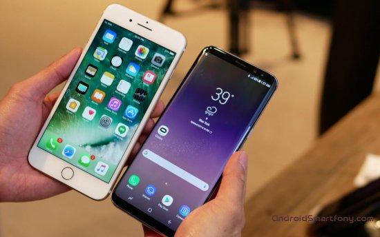 Samsung Galaxy S8 vs Apple-iPhone 7 Plus