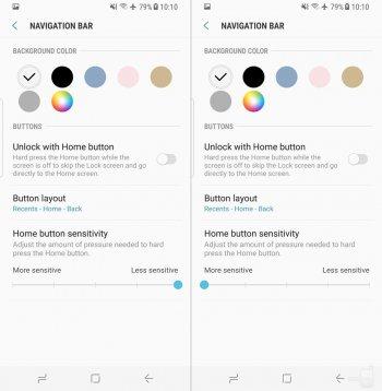 Как настроить программные кнопки навигации на смартфонах Galaxy S8 и S8+