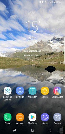 интерфейс Galaxy S8 Plus