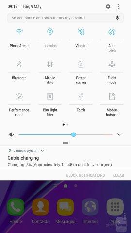 интерфейс Galaxy Note 5