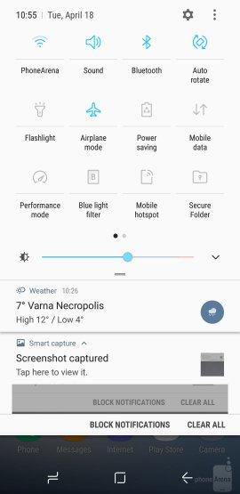 интерфейс Galaxy S8