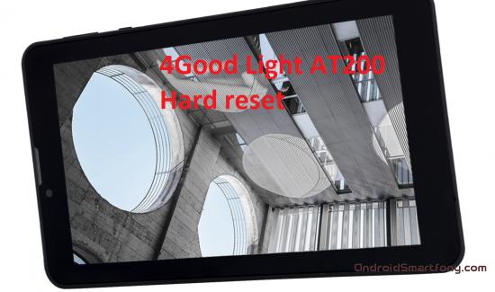Hard Reset 4Good Light AT200 - сброс настроек, пароля, графического ключа